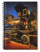 1880 Steam Locomotive  Spiral Notebook
