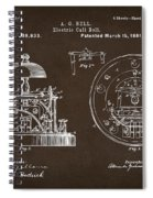 1881 Alexander Graham Bell Electric Call Bell Patent Espresso Spiral Notebook