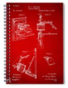 1881 Taylor Camera Obscura Patent Red Spiral Notebook