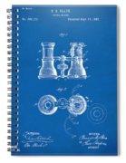 1882 Opera Glass Patent Artwork - Blueprint Spiral Notebook