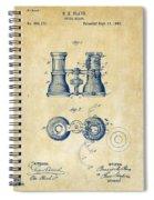 1882 Opera Glass Patent Artwork - Vintage Spiral Notebook