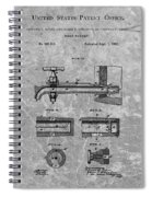 1885 Beer Tap Patent Charcoal Spiral Notebook