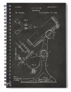 1886 Microscope Patent Artwork - Gray Spiral Notebook
