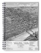 1886 Vintage Map Of Waco Texas Spiral Notebook