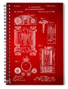 1889 First Computer Patent Red Spiral Notebook