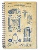 1889 First Computer Patent Vintage Spiral Notebook