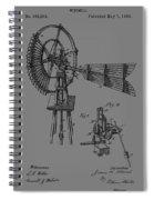 1889 Windmill Patent Spiral Notebook