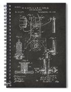 1890 Bottling Machine Patent Artwork Gray Spiral Notebook