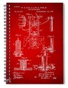 1890 Bottling Machine Patent Artwork Red Spiral Notebook