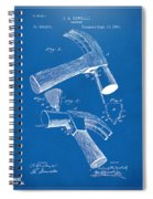 1890 Hammer Patent Artwork - Blueprint Spiral Notebook