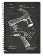 1890 Hammer Patent Artwork - Gray Spiral Notebook