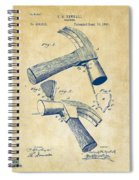 1890 Hammer Patent Artwork - Vintage Spiral Notebook