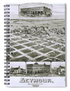 1890 Vintage Map Of Seymour Texas Spiral Notebook