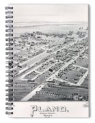 1890 Vintage Map Of Plano Texas Spiral Notebook