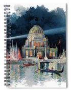 1890s Night In Grand Court Of World Spiral Notebook