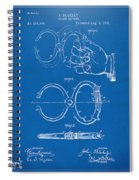 1891 Police Nippers Handcuffs Patent Artwork - Blueprint Spiral Notebook