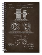 1891 Tesla Electro Magnetic Motor Patent Espresso Spiral Notebook