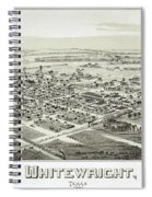 1891 Vintage Map Of Whitewright Texas Spiral Notebook