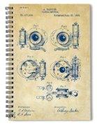 1892 Barker Camera Shutter Patent Vintage Spiral Notebook