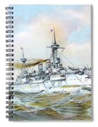 1895 - The Brandenburg Squadron At Sea - Color Spiral Notebook
