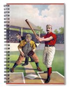 1895 Batter Up At Home Plate Spiral Notebook