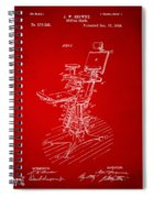 1896 Dental Chair Patent Red Spiral Notebook