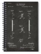 1896 Dental Excavator Patent Gray Spiral Notebook
