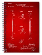 1896 Dental Excavator Patent Red Spiral Notebook