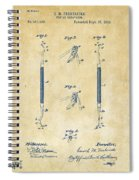 1896 Dental Excavator Patent Vintage Spiral Notebook