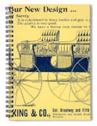 1898 - Hawley King And Company - Surrey Buggy Advertisement - Color Spiral Notebook