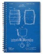 1898 Beer Keg Patent Artwork - Blueprint Spiral Notebook