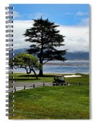 18th At Pebble Beach Panorama Spiral Notebook