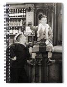Silent Film Still: Drinking Spiral Notebook