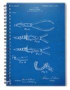 1903 Dental Pliers Patent Blueprint Spiral Notebook