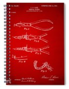 1903 Dental Pliers Patent Red Spiral Notebook