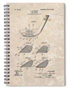 1903 Golf Club Patent Spiral Notebook