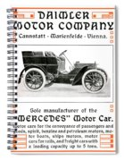 1904 - Daimler Motor Company Mercedes Advertisement - Color Spiral Notebook