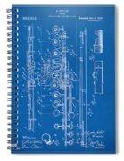1908 Flute Patent - Blueprint Spiral Notebook