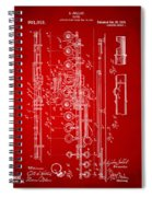 1908 Flute Patent - Red Spiral Notebook