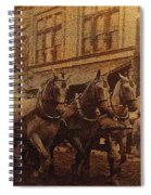 1908 Nickel-plated  Nott Steamer Fire Truck July 4th Parade East Congress Tucson Arizona 1909-2009 Spiral Notebook