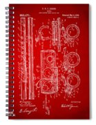 1909 Flute Patent In Red Spiral Notebook