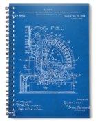 1910 Cash Register Patent Blueprint Spiral Notebook