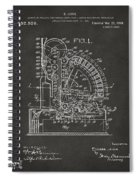 1910 Cash Register Patent Gray Spiral Notebook