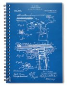 1911 Automatic Firearm Patent Artwork - Blueprint Spiral Notebook