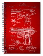 1911 Automatic Firearm Patent Artwork - Red Spiral Notebook