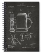 1914 Beer Stein Patent Artwork - Gray Spiral Notebook