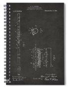 1914 Flute Patent - Gray Spiral Notebook