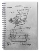 1914 Go Cart Patent Drawing Spiral Notebook
