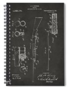 1915 Ithaca Shotgun Patent Gray Spiral Notebook