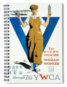 1918 - Ywca Patriotic Poster - World War One - Color Spiral Notebook